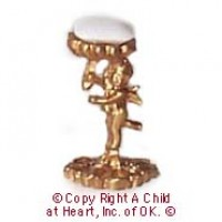 Dollhouse Cupid Soap Dish w/Soap - Product Image
