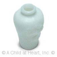 § Sale .30¢ Off - White Carved Vase - Product Image