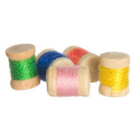 (*) 5 Dollhouse Spools of Thread - Product Image