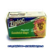 (§) Disc. .30¢ Off - Dollhouse Box of Sandwich Bags - Product Image