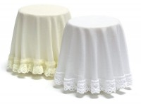 Dollhouse Ivory or White Skirted Table- Choice of Color - - Product Image