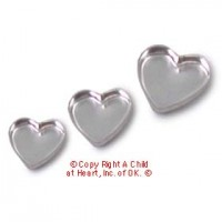 (*) 3 pc Heart Shaped Cake Pans - Product Image