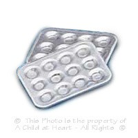 § Sale .60¢ Off - 2 pc Dollhouse Muffin Pan Set - Product Image