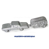 (**) Unfinished Toy Vehicles & Trailer - Product Image