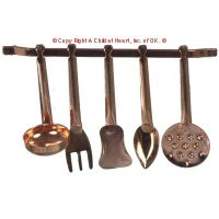 § Sale .20¢ Off - Dollhouse Copper Utensils - Product Image