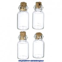 § Sale .40¢ Off - 4 Jars with Cork Stopper - Product Image