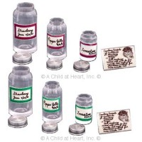 § Sale .60¢ Off - Canning Jar Set with Labels - Product Image