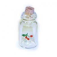 § Sale .40¢ Off - Corked Jar with Cherry Decal - Product Image