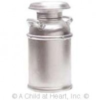 Dollhouse Silver Milk Can - Product Image