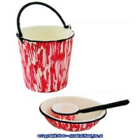 Kitchen Pail, Dipper and Basin- Choice of Color - - Product Image