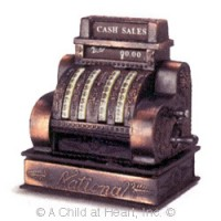 (*) Dollhouse Miniature Vintage Cash Register - Product Image