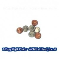 (**) Dollhouse Miniature Coin Set - Product Image