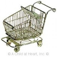 Sale - Dollhouse Shopping Cart - Product Image