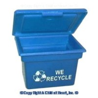 Sale $2 Off - Small Recycling Bin in Blue - Product Image