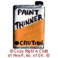 § Disc $3.30 Off - Dollhouse Metal Paint Thinner Can - Product Image
