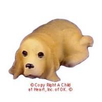(§) Disc .60¢ Off - Dollhouse Basset Hound - Product Image