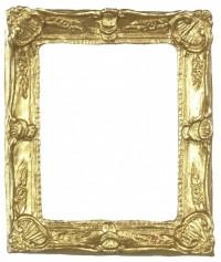 Dollhouse Gold Shell Rectangular Frame - Product Image