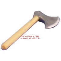 § Disc .50¢ Off - Dollhouse Wood Handle Log Axe - Product Image