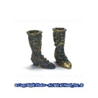 (§) Sale - Dollhouse Fancy Victorian Boots - Product Image