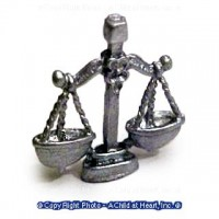 (**) Dollhouse Scale of Justice - Product Image