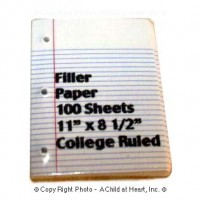 Dollhouse School 3-Ring Binder Filler Paper - Product Image