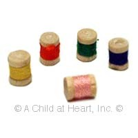 5 Dollhouse Spools of Thread - Product Image