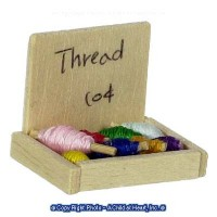 (?) Sale .30? Off - Dollhouse Box of Thread - Product Image