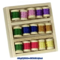 (?) Sale .60? Off - Dollhouse Thread Box of Spools - Product Image