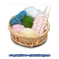 § Disc .50¢ Off - Dollhouse Knitting Basket - Product Image