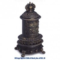 Dollhouse Porcelain Parlor Stove - Large - Product Image
