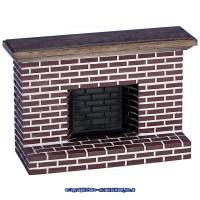 Dollhouse Red Brick Fireplace (2 Sizes) - Product Image