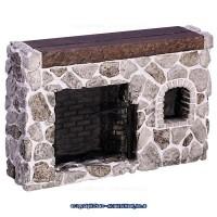 Dollhouse Fieldstone Colonial Walk-in Fireplace - Product Image