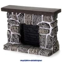 Dollhouse Fieldstone Fireplace - Product Image