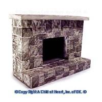 Small Dollhouse Cut Stone Fireplace - Product Image