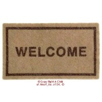 § Sale .30¢ Off - Dollhouse Welcome Mat - Product Image