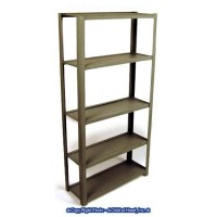 (**) Gray Metal Utility Shelf - Product Image