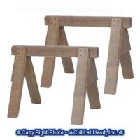 (*) Set of 2 Dollhouse Sawhorses - Product Image