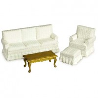 Dollhouse 4 pc Budget Living Room Set - Product Image