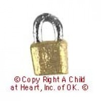 § Sale .40¢ Off - Dollhouse Padlock - Product Image