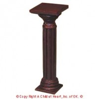 Disc $3 Off - Dollhouse Wood Pedestal - Product Image
