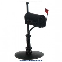Dollhouse Rural Mailbox - Black - Product Image