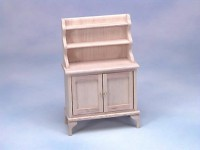 Unfinished Dollhouse Kitchen Hutch - Product Image