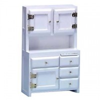 Dollhouse Kitchen Hutch- Choice of Finish - - Product Image
