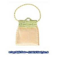 Dollhouse Clutch Purse - Beige or Black - Product Image