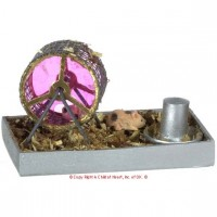 Dollhouse Hamster on Wheel - Product Image