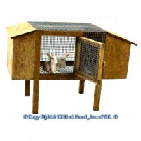 Dollhouse Rabbit Hatch with Rabbits - Product Image