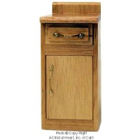 § Disc. $1 Off - Dollhouse Oak Small Cabinet - Product Image