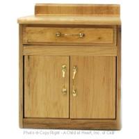 § Disc $3 Off - Dollhouse Oak Large Cabinet - Product Image