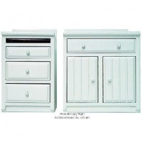 2 pc Dollhouse Lower Cabinet Set - White - Product Image