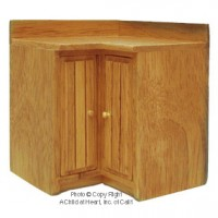 Disc. $3 Off - Modern Coner Cabinet - Oak - Product Image